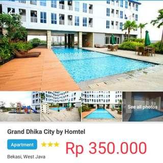 Rental Harian Apartemen Grandika City