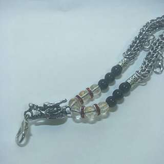 Thai amulet necklace.
