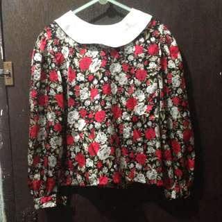 Baju vintage motif bunga