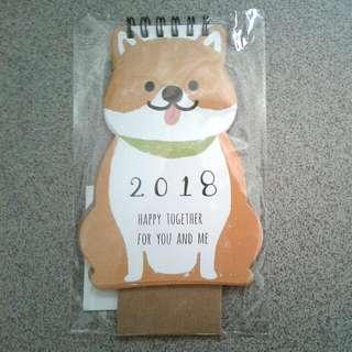 Cute 2018 Dog Calendar