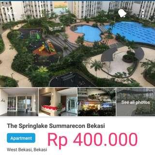 Rental Harian Apartemen Sprinklake Sumarecon Bekasi