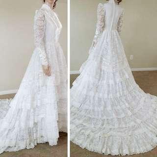 古董拖尾婚紗