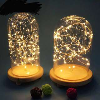 Fairy lights glass dome led lights bedroom decorations