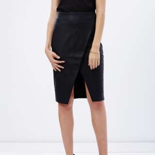 Dorothy Perkins wrap leather skirt