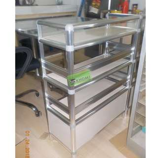 RECTANGULAR PANTRY TABLE and PANTRY CABINET ALUMINUM