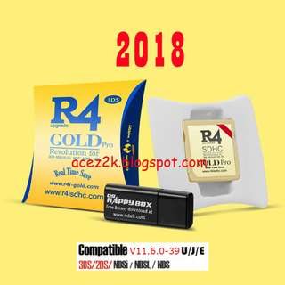 [BNIB] R4 Gold Pro 2018 for 3DS / 2DS / DS (Brand New Boxed)