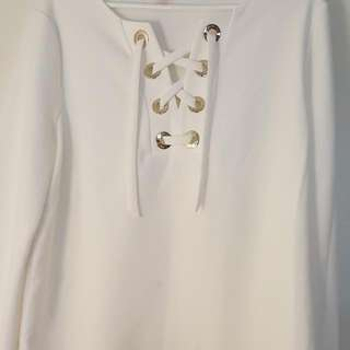 brand new without tags Vince Camuto off white top