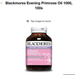 Blackmore evening primrose oil 1000mg