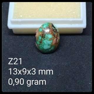 Batu Pirus Persia Z21 Natural Turquoise