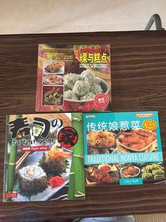 Cookbooks English and mandarin
