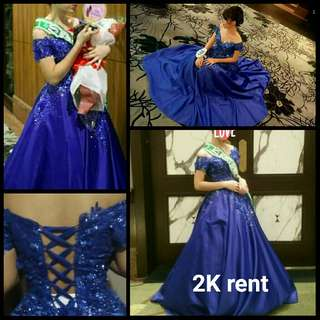 Debut, prom , gradball and prenup gown FOR RENT