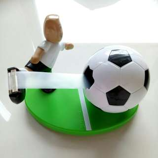Soccer scotch tape holder