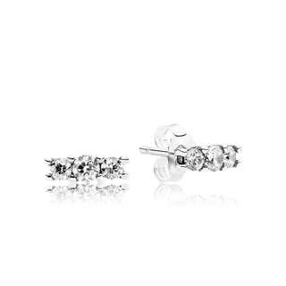 FAST DEAL $50 AUTHENTIC PANDORA Silver stud earrings with clear cubic zirconia