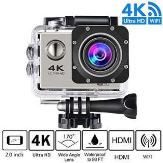 Action Camera, 4K Ultra HD 1080P WiFi Waterproof Mini Sport Cam