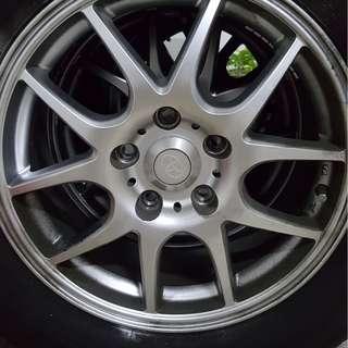 "Toyota 16"" sport rim with tyre"