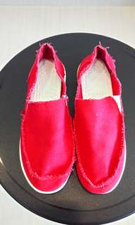 Red Crocs Shoes (Not Adidas or Nike)