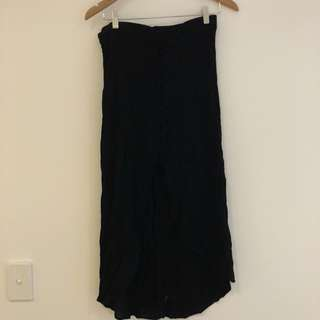 Cotton on Black button midi skirt
