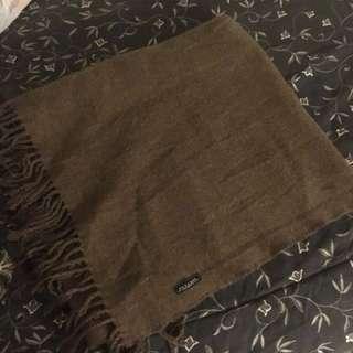 Zara man brown blanket scarf