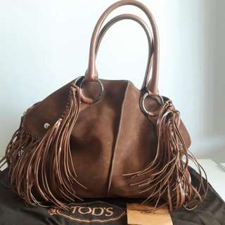 Tod's Fringe Large Satchel#HOT80
