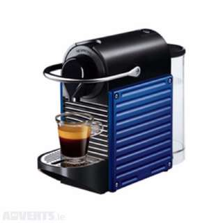 Nespresso Pixie Blue and Milk Frother for Sale