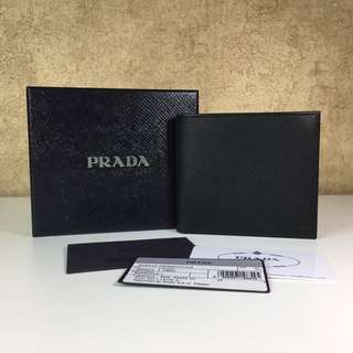 PRADA 2M0513 MEN'S SAFFIANO LEATHER BIFOLD WALLER