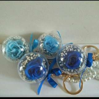 Preserved flower bag charm
