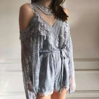 Alice McCall lace playsuit cutout shoulder