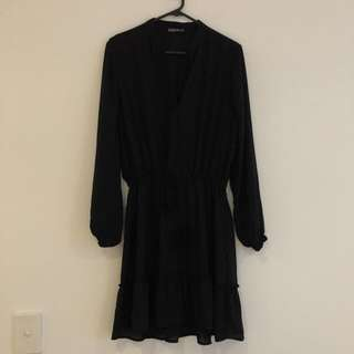 Cotton on Black dress - long sleeve