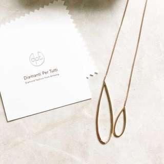 DPT Diamanti Per Tutti Double Twisted Necklace 頸鏈 頸鍊 長頸鏈 長頸鍊