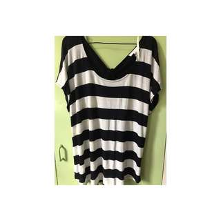 Stripes Blouse ( Plus Size )