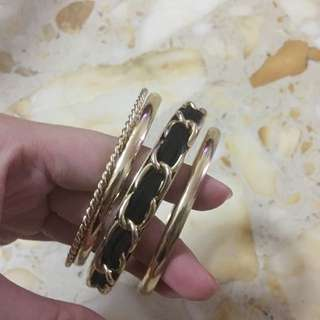 Almost new gold bangles