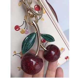 COACH 櫻桃掛件 小萌物 包包钥匙配件飾品