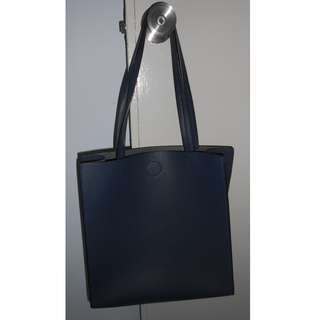 Blue leather tote bag at $20 (CNY clearance)