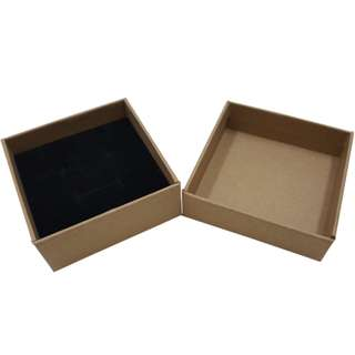 Quality Kraft Brown Jewelry Box with sponge padding size 8x8x3cm now available in 5 boxes pack until stock last