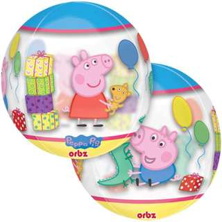 "16"" Anagram Orbz Peppa Pig see thru Balloon"