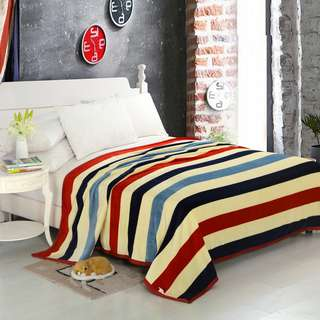 Selimut polyester salur rainbow uk200x230
