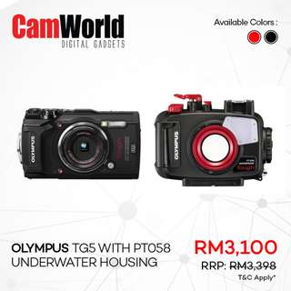 OLYMPUS TG5 with PT058 Underwater Housing