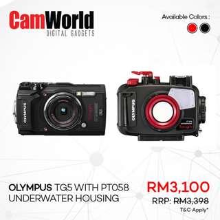 OLYMPUS TG5 with PT058 Underwater Housing