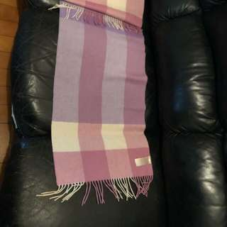 Burberry purple scarf 紫色長巾