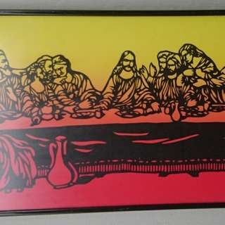 Handicraft Cut in frame of The Last Supper +9