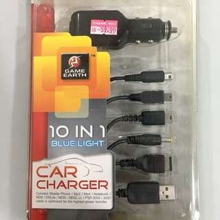 Car Charger 10 in 1 game cable