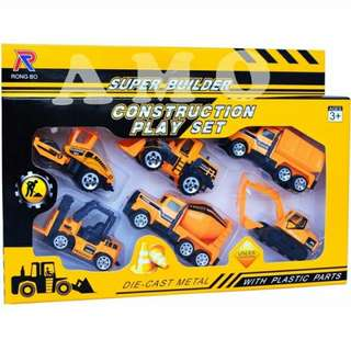 diecast construction play set