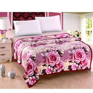 Selimut polyester rose maroon uk180x200