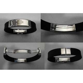 Gelang Rubber Stainless Steel