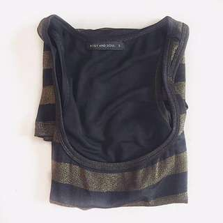 Body and soul striped tank top