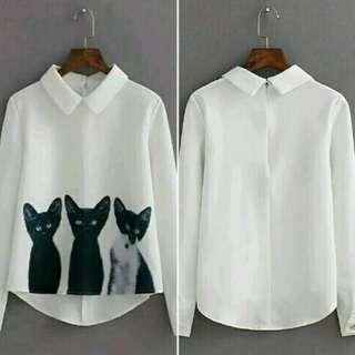 Blouse White CAT
