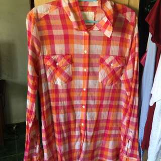 Sonoma Checkered long sleeve