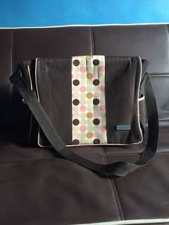 Bebe Chic Brown w/ dots Baby Diaper Bag