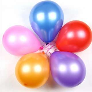 "10"" Metallic Balloon  25pcs"