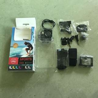 Sports Cam (waterproof 30m) Full HD 1080p